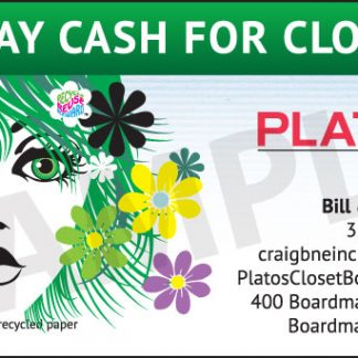 Plato's Closet Business Cards - front