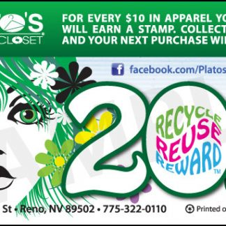 Loyalty cards - Plato's Closet customer loyalty cards front design